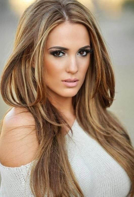 Auburn Brown Hair With Blonde Highlights Brown hair blonde highlights