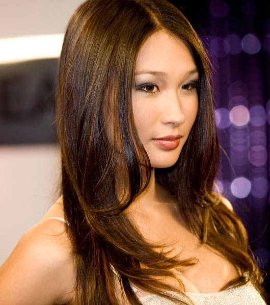 Parted Long Layered Hair The Latest Trends In Women S