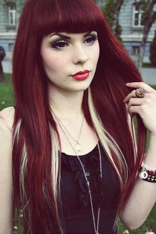 Dark Red Hair Blonde Highlights The Latest Trends In Women S