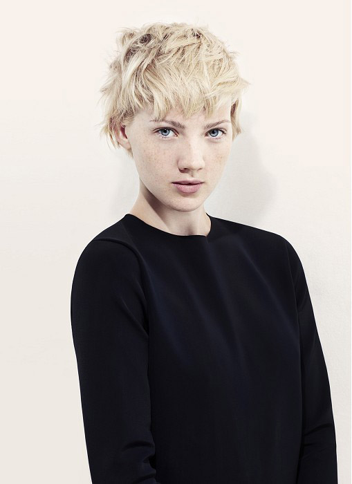 Messy Short Haircut - The latest trends in women's