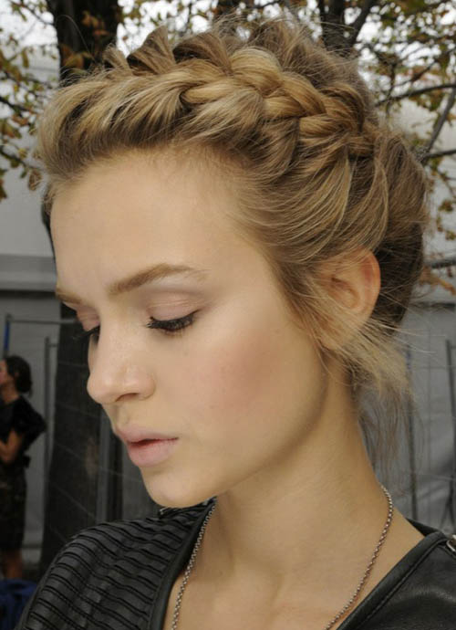 French Braid Updo The Latest Trends In Womens Hairstyles And Beauty