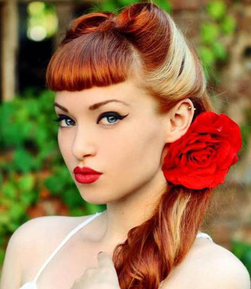 Two Tone Victory Roll Hairstyle The Latest Trends In