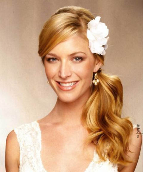 Side Ponytail Wedding Hairstyle - The latest trends in women\'s ...