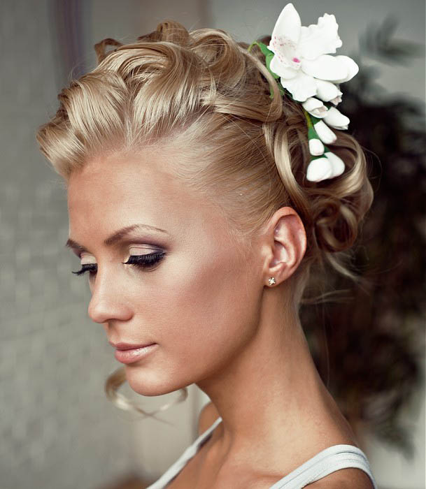 Medium Length Wedding Hairstyle