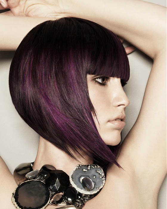 Modern Purple Bob Hairstyle