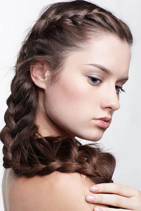 Double Crown Braid Hairstyle