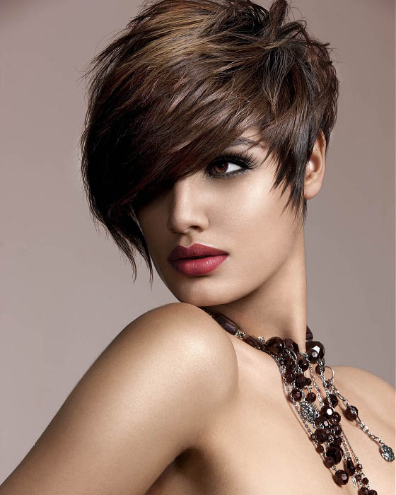 Layered Swept Short Hairstyle