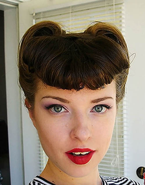 50s Victoryrolls Hairstyle