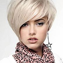 Blonde Asymmetric Bob