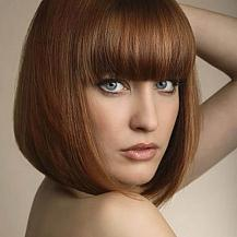 Red Layered Bob Hairstyle