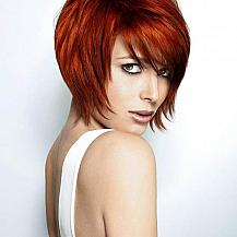 Red Stacked Bob Hairstyle