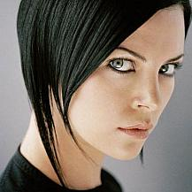 Straight Black Layered Bob