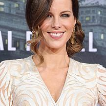 Kate Beckinsale Low Side Bun Hairstyle