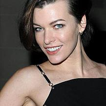 Milla Jovovich Side Swept Hairstyle