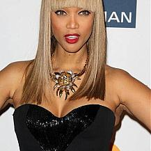Tyra Banks Straight Hairstyle