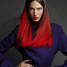 Bright Red Ombre