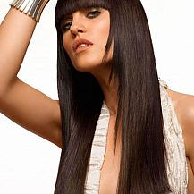 Long Layered Hair Blunt Bangs
