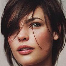 Medium Hairstyle Swept Bangs