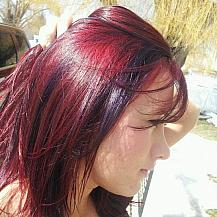 Purple Red Hair
