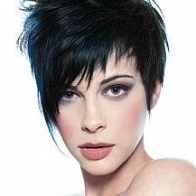 Black Teased Short Hairstyle