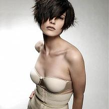 Teased Short Hair