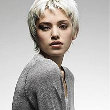 Wavy Short Platinum Hair