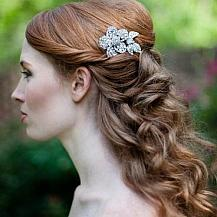 Long Vintage Wedding Hairstyle