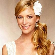 Side Ponytail Wedding Hairstyle