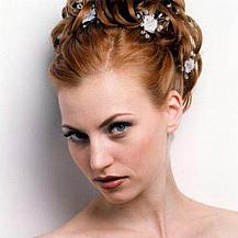 Red Wedding Hairstyle Updo