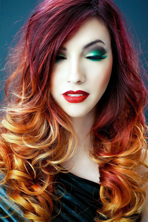two tone hair styles blazing ombre the trends in s hairstyles 4647