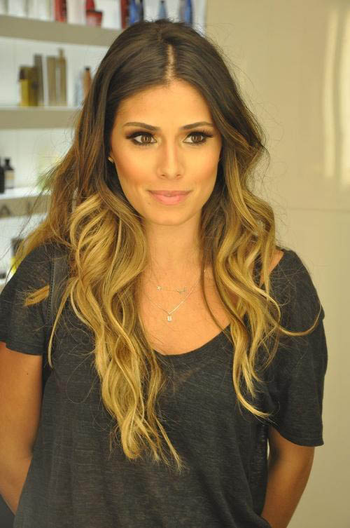 hair ombre style medium brown and golden the trends in 5407